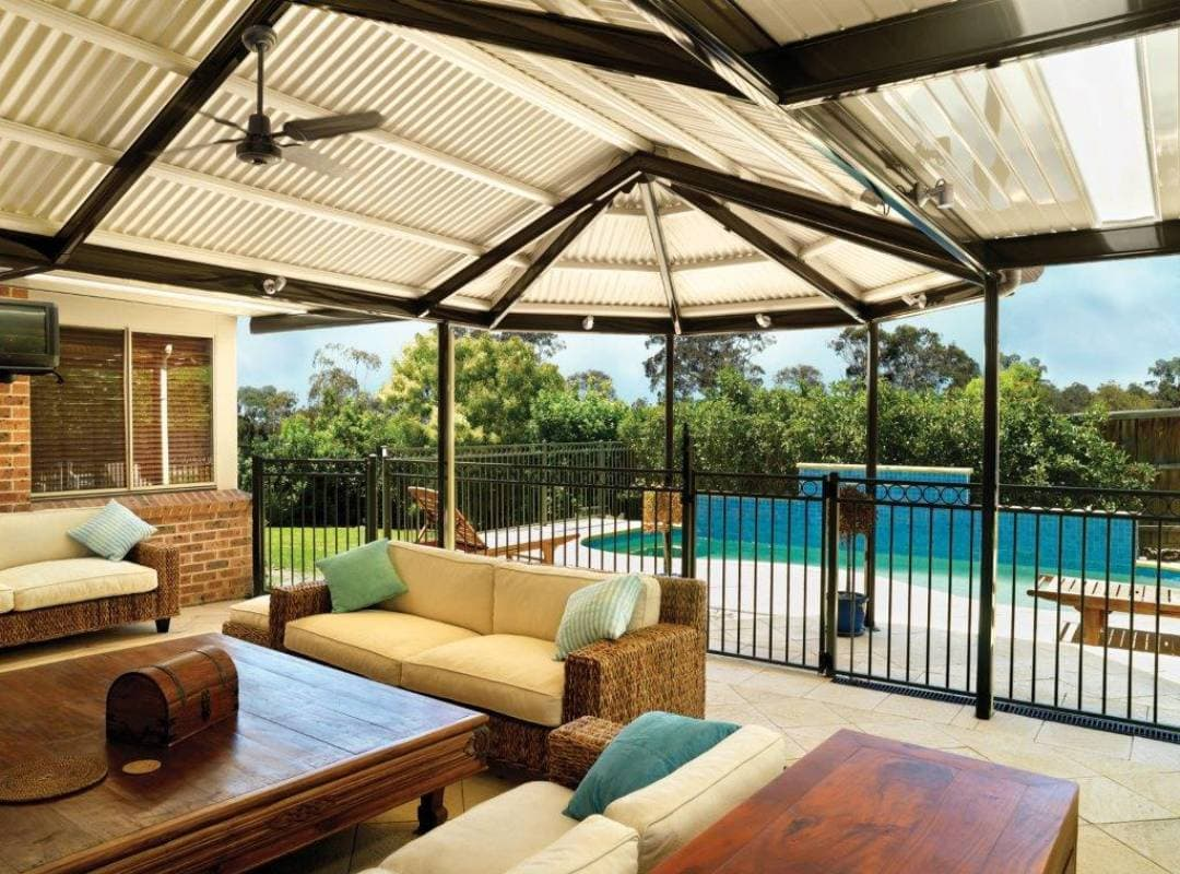 Patios Verandah Carport Outback Gazebo Hip 05